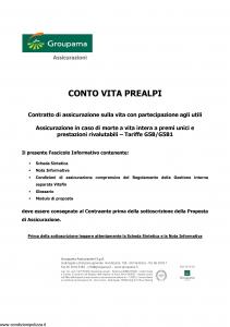 Groupama - Conto Vita Prealpi - Modello 150313 Edizione 03-2010 [23P]
