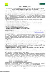 Groupama - Conto Vita Prealpi - Modello 150313 Edizione 05-2006 [23P]