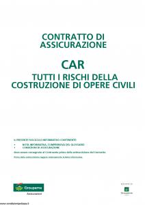Groupama - Contratto Di Assicurazione Car - Modello 17.01-cg Edizione 12-2010 agg 09-2015 [20P]