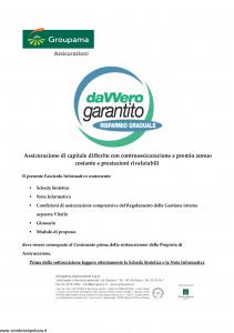 Groupama - Davvero Garantito Risparmio Graduale - Modello 150524 Edizione 11-2009 [34P]