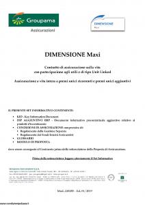 Groupama - Dimensione Maxi - Modello 220288 Edizione 01-2019 [90P]