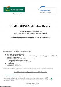 Groupama - Dimensione Multivalore Double - Modello 220415 Edizione 01-2019 [84P]