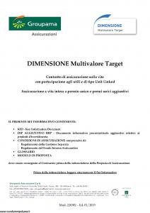 Groupama - Dimensione Multivalore Target - Modello 220382 Edizione 01-2019 [63P]