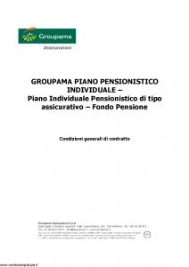 Groupama - Groupama Piano Pensionistico Individuale - Modello 150270-2 Edizione 04-2012 [27P]