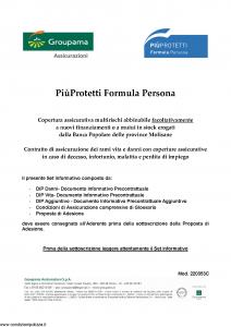 Groupama - Piu' Protetti Formula Persona - Modello 220353c Edizione 01-2019 [44P]