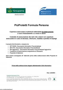 Groupama - Piu' Protetti Formula Persona - Modello 220408c Edizione 01-2019 [45P]