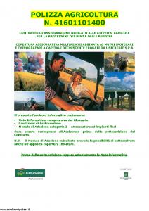 Groupama - Polizza Agricoltura 41601101400 Attrezzature E Impianti Fissi - Modello 1501481 Edizione 05-2014 [40P]
