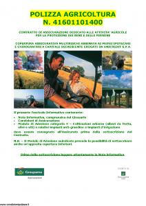 Groupama - Polizza Agricoltura 41601101400 Danni A Coltivazioni Arboree - Modello 150148I Edizione 10-2011 [35P]