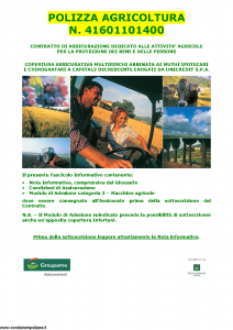 Groupama - Polizza Agricoltura 41601101400 Macchine Agricole - Modello 150148I Edizione 05-2013 [35P]
