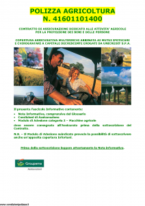 Groupama - Polizza Agricoltura 41601101400 Macchine Agricole - Modello 150148I Edizione 05-2015 [35P]