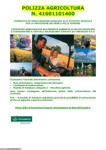 Groupama - Polizza Agricoltura 41601101400 Macchine Agricole - Modello 150148I Edizione 10-2014 [35P]