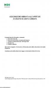 Hdi - Assicurazione Credito In Conto Corrente - Modello ficc_052015 Edizione 20-05-2015 [32P]