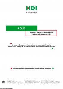 Hdi - Casa - Modello p5791 Edizione 01-2019 [20P]