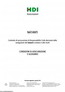 Hdi - Natanti - Modello a3063 Edizione 01-2019 [18P]