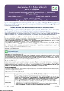 Hdi - Polizza Globale Per Il Camperista Dip Aggiuntivo - Modello a3054 Edizione 01-2019 [8P]