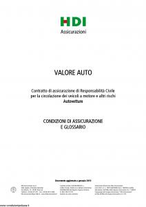 Hdi - Valore Auto Autovetture - Modello a3060 Edizione 01-2019 [42P]