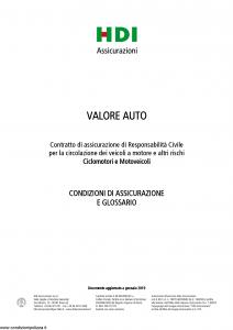Hdi - Valore Auto Ciclomotori E Motoveicoli - Modello a3061 Edizione 01-2019 [38P]