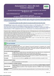 Hdi - Valore Auto Dip Aggiuntivo - Modello a3051 Edizione 01-2019 [6P]