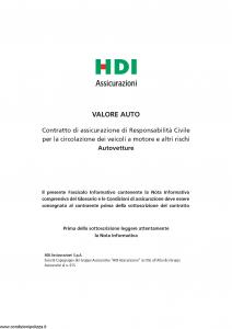 Hdi - Valore Auto - Modello a3001 Edizione 07-2016 [116P]