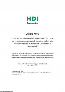 Hdi - Valore Auto - Modello a3003 Edizione 07-2016 [152P]