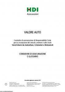 Hdi - Valore Auto Veicoli Diversi Da Autovetture, Ciclomotori E Motoveicoli - Modello a3062 Edizione 01-2019 [49P]