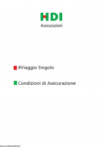 Hdi - Viaggio Singolo - Modello p5771 Edizione 01-2019 [30P]