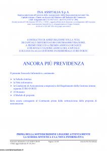 Ina Assitalia - Ancora Piu' Previdenza - Modello midv128-06 Edizione 31-03-2010 [63P]