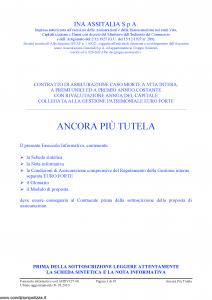 Ina Assitalia - Ancora Piu' Tutela - Modello midv127-06 Edizione 31-03-2010 [67P]
