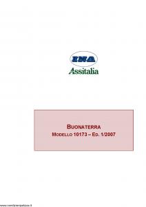 Ina Assitalia - Buonaterra - Modello 10173 Edizione 01-2007 [41P]