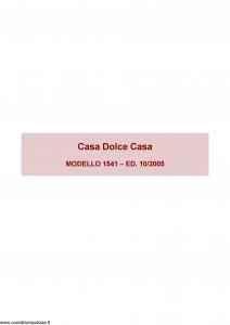 Ina Assitalia - Casa Dolce Casa - Modello 1541 Edizione 10-2005 [66P]
