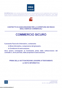 Ina Assitalia - Commercio Sicuro - Modello 1851 Edizione 01-12-2010 [68P]