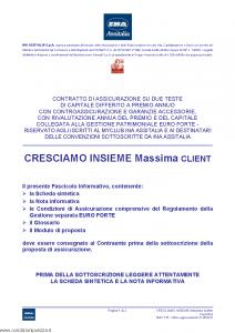 Ina Assitalia - Cresciamo Insieme Massima Client - Modello midv175 Edizione 31-05-2012 [60P]