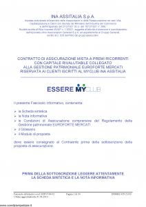 Ina Assitalia - Essere Myclub - Modello midv169-02 Edizione 31-03-2010 [54P]