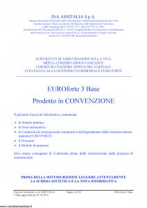 Ina Assitalia - Euroforte 3 Base - Modello midv158-02 Edizione 31-03-2010 [58P]