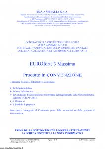 Ina Assitalia - Euroforte 3 Massima - Modello midv159-02 Edizione 31-03-2010 [58P]