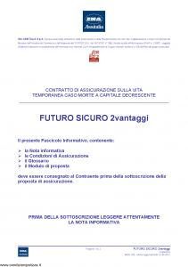 Ina Assitalia - Futuro Sicuro 2 Vantaggi - Modello midv165 Edizione 31-05-2012 [36P]