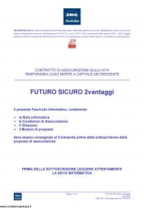 Ina Assitalia - Futuro Sicuro 2 Vantaggi - Modello midv203 Edizione 31-05-2013 [32P]