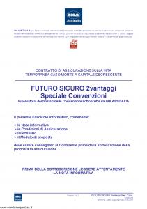 Ina Assitalia - Futuro Sicuro 2 Vantaggi Speciale Convenzioni - Modello midv166 Edizione 31-05-2012 [36P]