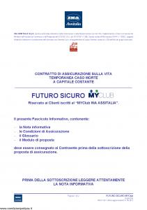 Ina Assitalia - Futuro Sicuro Myclub - Modello midv163 Edizione 31-05-2012 [36P]