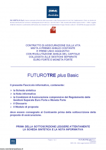 Ina Assitalia - Futuro Tre Plus Plus Basic - Modello midv233 Edizione 25-03-2013 [66P]