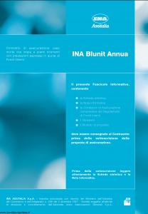 Ina Assitalia - Ina Blunit Annua - Modello midv124-02 Edizione 31-03-2007 [62P]