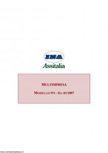 Ina Assitalia - Multimpresa - Modello 991 Edizione 01-2007 [79P]