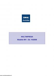 Ina Assitalia - Multimpresa - Modello 991 Edizione 10-2008 [85P]