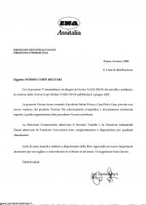 Ina Assitalia - Norma Corpi Militari - Modello nagg-002-02 Edizione 05-03-2008 [18P]