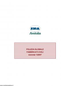 Ina Assitalia - Polizza Globale Fabbricati - Modello 11199 Edizione 01-2007 [30P]