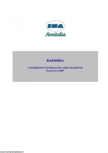 Ina Assitalia - Rapsodia - Modello 12047 Edizione 01-2007 [9P]
