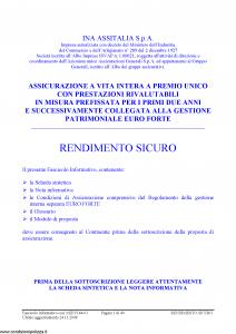 Ina Assitalia - Rendimento Sicuro - Modello midv144-01 Edizione 24-11-2008 [40P]