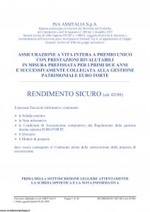 Ina Assitalia - Rendimento Sicuro - Modello midv146-01 Edizione 06-02-2009 [40P]