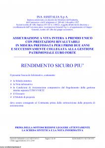 Ina Assitalia - Rendimento Sicuro Piu' - Modello midv145-01 Edizione 24-11-2008 [40P]