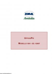 Ina Assitalia - Ufficio Piu' - Modello 1361 Edizione 01-2007 [50P]